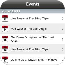 Include all of your businesses events inside of your application. Keep customers informed on the go.