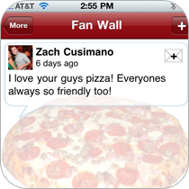 Set up a fan wall for your customers to leave feedback on your business. Manage the comments online.