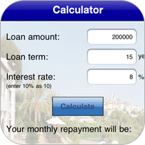 Include a mortgage calculator feature where you can preset the interest rate. Perfect for real estate agents.